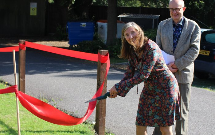 Dr Sue Stuart Smith opens the allotment at the ADRU as part of a project for a healthy gut microbiota