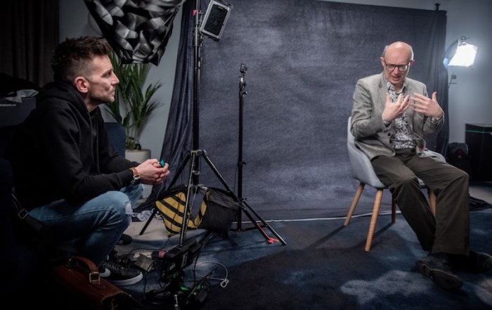 Prof David Veale is filmed speaking to Danny Gray as part of the JAAQ project